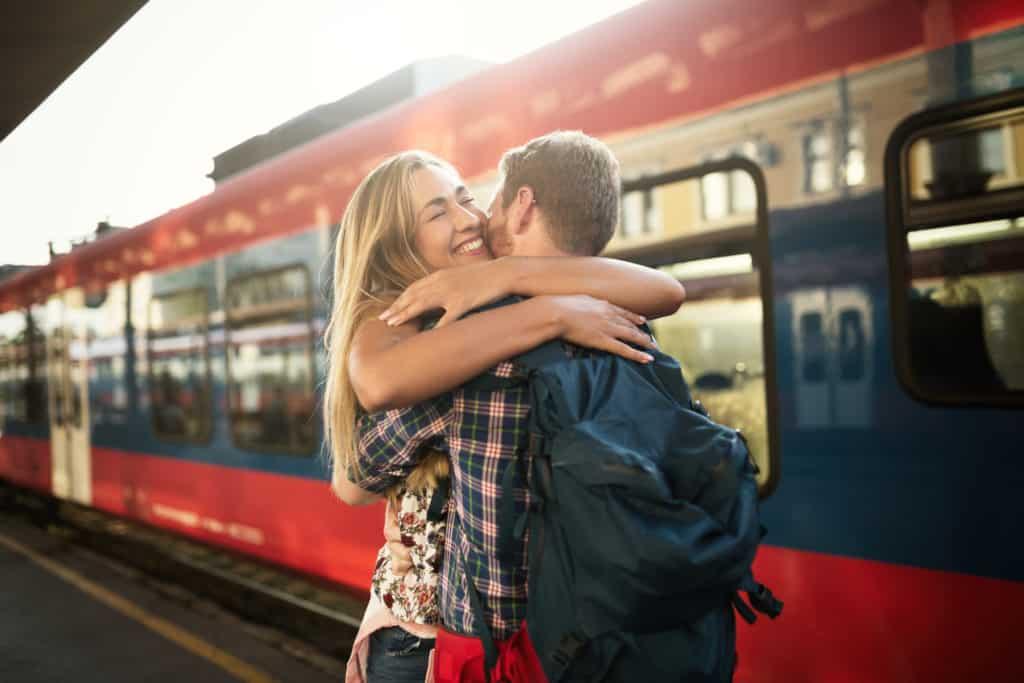 Hug goodbye if you enjoyed the time together