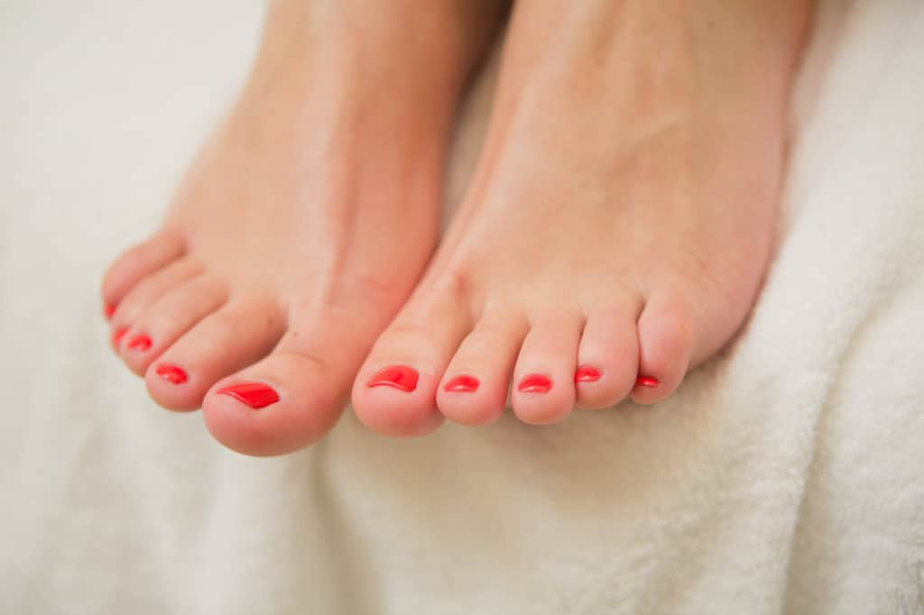 women have pretty toes